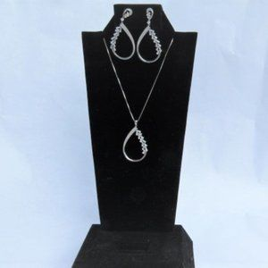 Swarovski Necklace and Earrings Sterling Silver